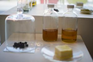 Banana peels ashes + Canola oil